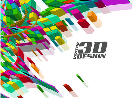 Abstract 3d design background, vector illustration Vector