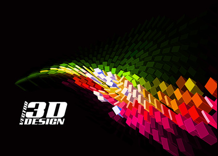 Abstract 3d design background, vector illustration Stock Vector - 9066174