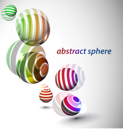 abstract 3d sphere with glossy sphere design. Stock Vector - 9066392