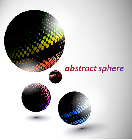 abstract 3d sphere with glossy sphere design. Stock Vector - 9066390