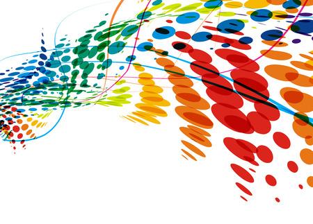 Resumen de la línea de onda colorido con espacio de su texto, ilustración de vectores