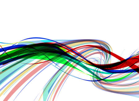abstract colorful wave line with space of your text, vector illustration  Vector