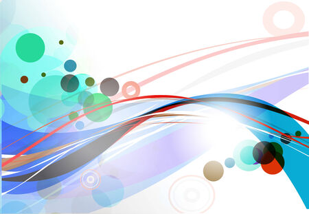 abstract wave line background. vector illustration. Vector
