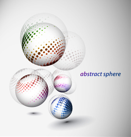 abstract 3d sphere with glossy sphere design. Stock Vector - 9066391