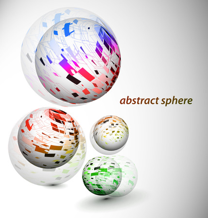 abstract 3d sphere with glossy sphere design. Stock Vector - 9066394
