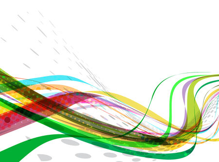 abstract colorful wave line with space of your text, vector illustration  Stock Vector - 9066206