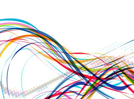 cool backgrounds: Resumen de la l�nea de onda colorido con espacio de su texto, ilustraci�n de vectores