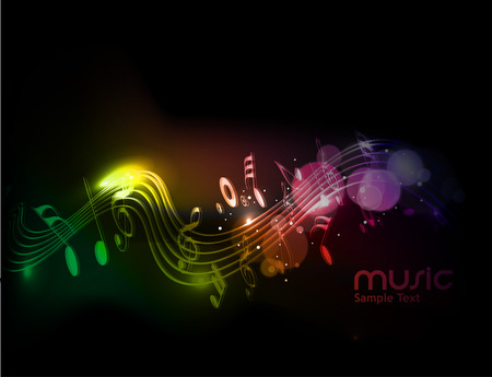music concert: Music notes for design use, vector illustration Illustration