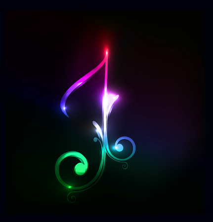 Music notes for design use, vector illustration Vector