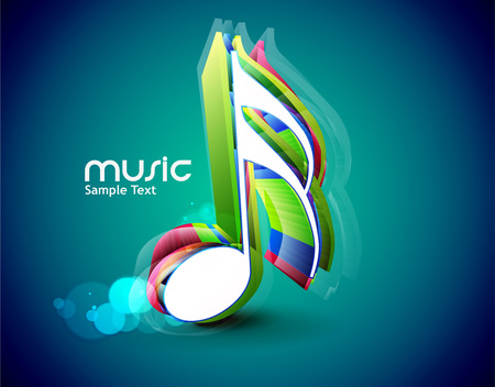 notes music: 3d Music notes for design use, vector illustration