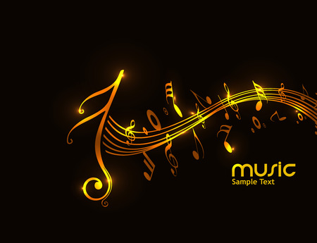 tones: Music notes for design use, vector illustration Illustration