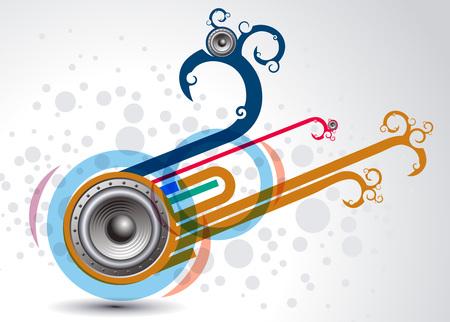 vector illustration on a musical design element. Vector