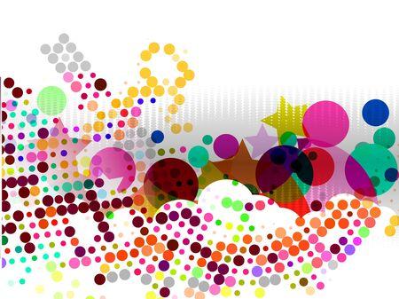 Resumen de fondo del círculo de semitonos con espacio de copia, ilustración de vectores.