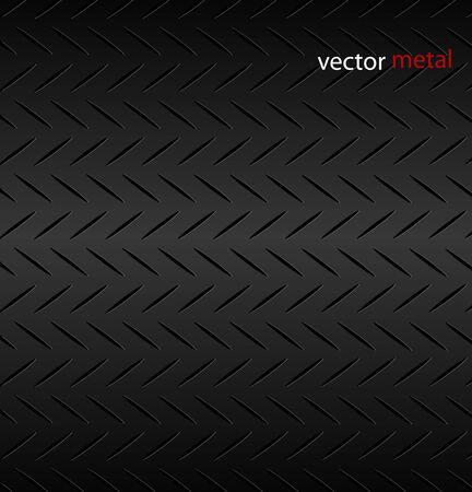 Gecanneleerde metalen textuur patroon. Vectorillustratie.