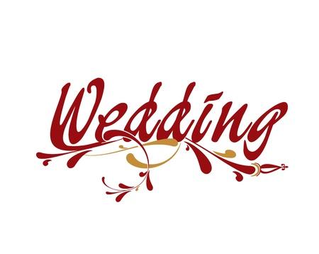 Wedding floral vector illustration design element. Vector