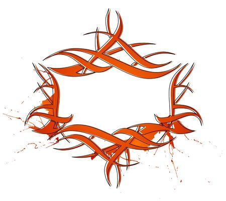 abstract tattoo design, vector design. Vector