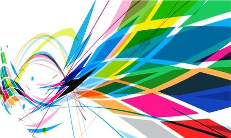 Resumen de diseño de patrones de colorido mosaico, ilustración de vectores.