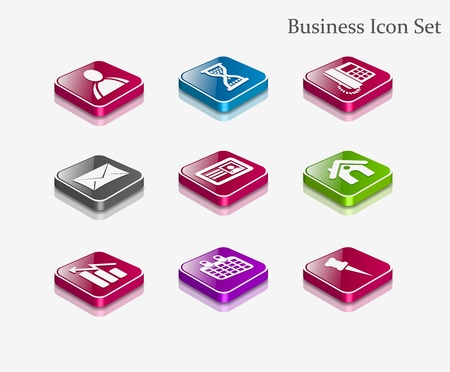 vector web icons set - internet & website used Vector