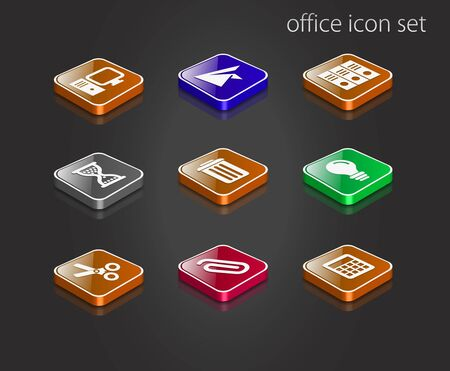 Office and Business icon set - vector illustration. Stock Vector - 9279899