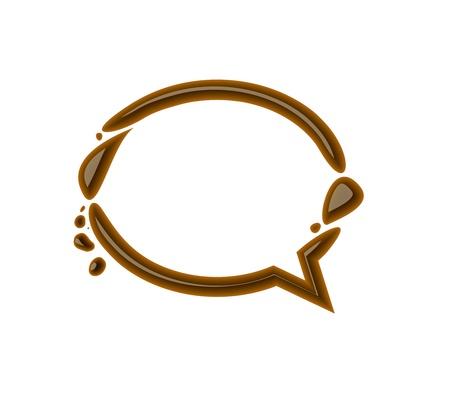 Chocolate speech bubble for valentine vector design element. Vector