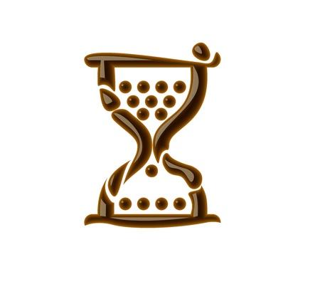 Chocolate hourglass for valentine vector design element. Vector