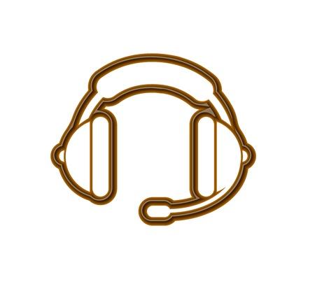 Chocolate headphones icon heart for valentine vector design element. Vector