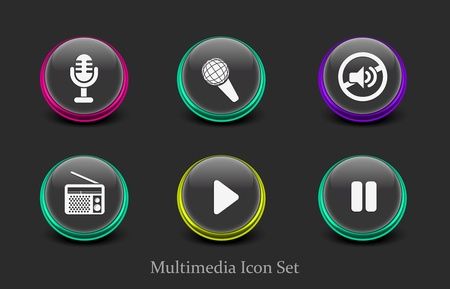 web music player icon for your web icon design used. Stock Vector - 9307008