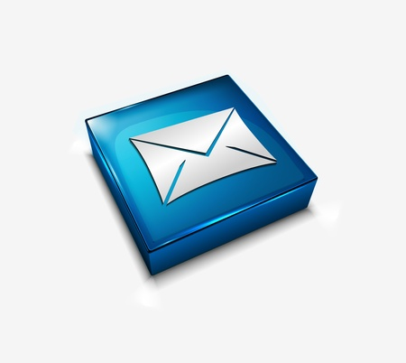 3d vector glossy email web icons design element. Stock Vector - 9307066