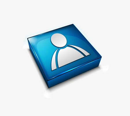3d vector glossy user web icons design element. Vector