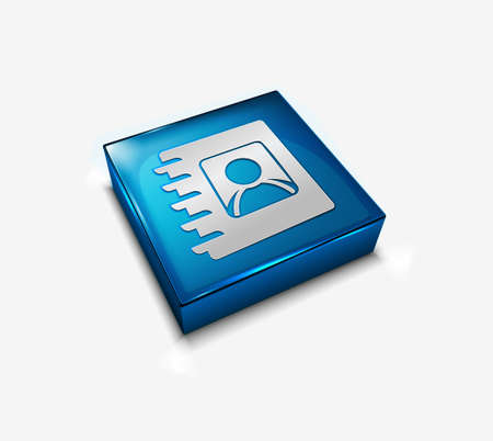 directory: 3d vector glossy user directory web icon design element. Illustration
