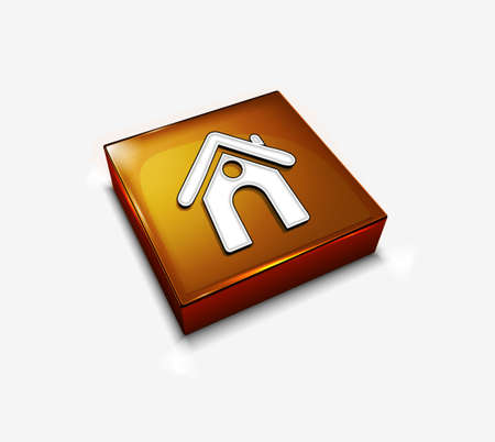 3d vector glossy home web icon design element. Stock Vector - 9307059