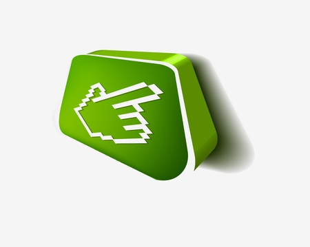 3d hand mouse cursor, vector icon Stock Vector - 9325644