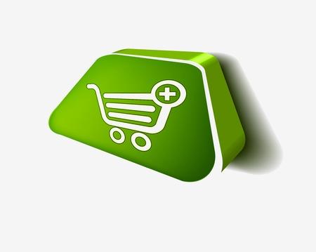3d glossy shopping icon vector design. Stock Vector - 9325650