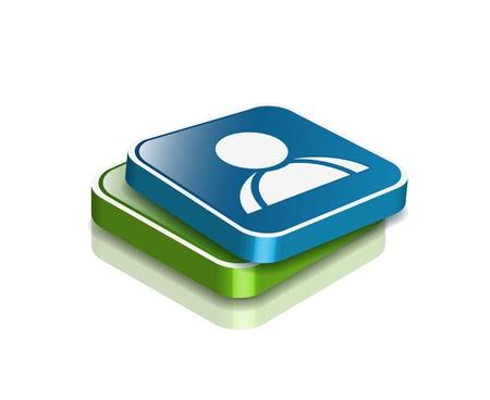 3d vector user web icon design element. Stock Vector - 9325688