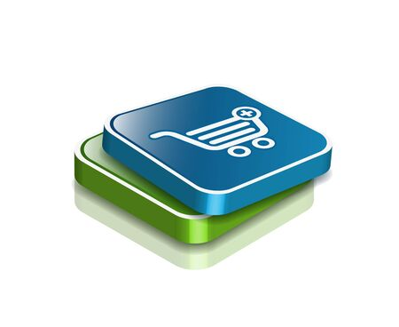 3d vector shopping web icons design element. Stock Vector - 9325728