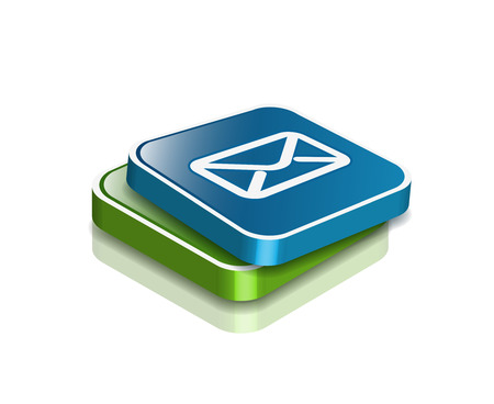 outlook: vector email icon web design element.