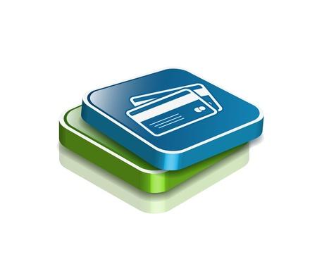 overdracht: 3D-vector creditcards pictogram ontwerpelement.