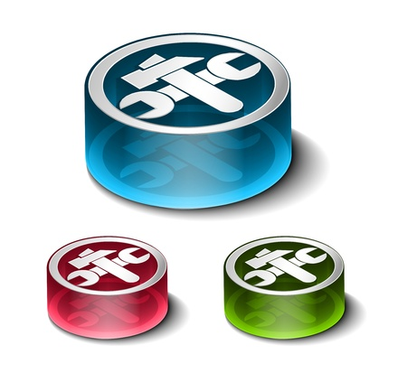 vector glossy setting web icon design element. Çizim