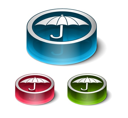 3d glossy safety icon vector design. Stock Vector - 9525255