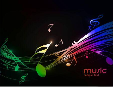 coro: Resumen de antecedentes de notas musicales para uso de dise�o. Vectores