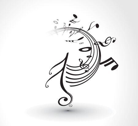 coro: Resumen antecedentes de notas musicales para uso de dise�o. Vectores