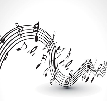 musical notes: abstract musical notes background for design use.