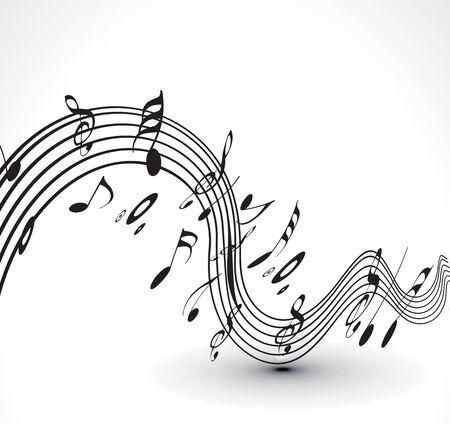 notas musicales: Resumen de antecedentes de notas musicales para uso de dise�o. Vectores