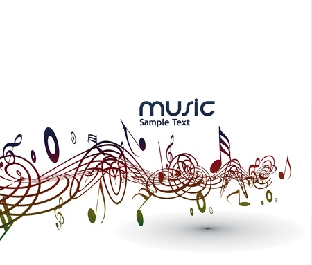 abstract musical notes background for design use. Stock Vector - 9543056