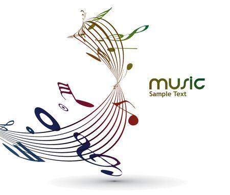 abstracte muzieknoten achtergrond voor het ontwerp te gebruiken.