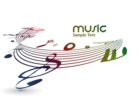 abstract musical notes background for design use. Vector
