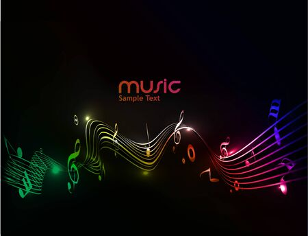 treble: abstract musical notes background for design use.