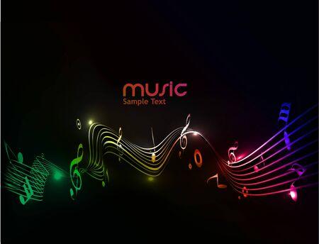 clef de fa: abstrait des notes de musique pour une utilisation du design.