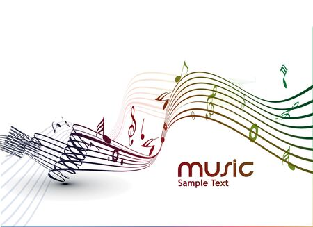 abstract musical notes background for design use. Stock Vector - 9543060