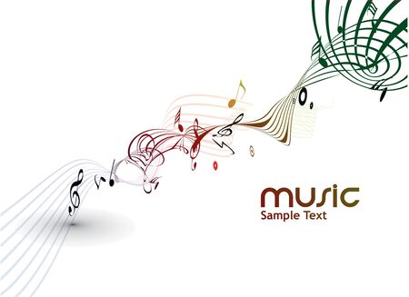 in use: abstract musical notes background for design use.
